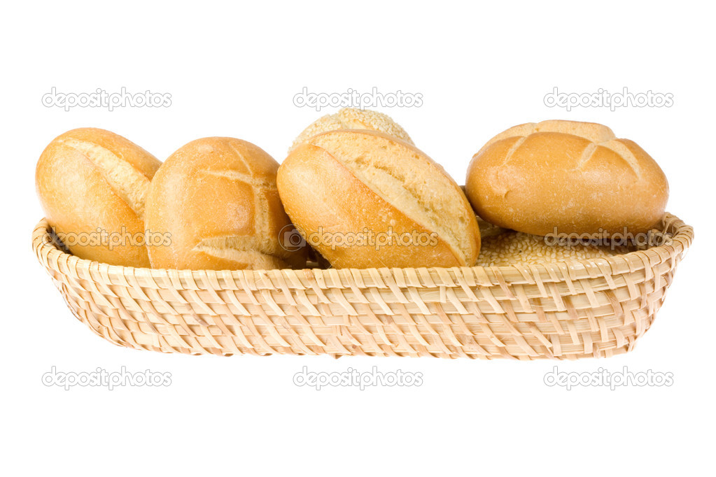 Bread rolls isolated on a white background. — Stock Photo #3069727