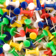 Stock Photo: Multicolored push pins.