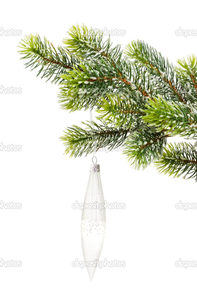 Christmas decoration on a white background. — Stock Photo #3434585