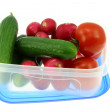 Lunch box with vegetables. — Stock Photo
