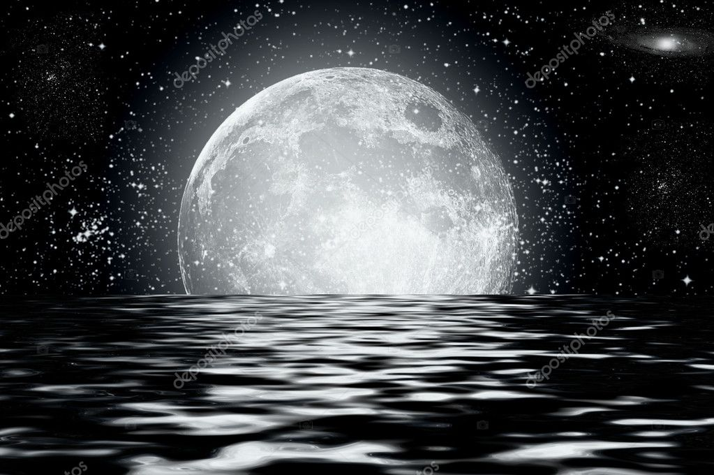 Full moon image with water — Stock Photo #2800767