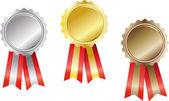 Set award ribbons — Stock Vector