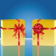 Two yellow gift box - Vektorgrafik