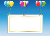 Birthday card with balloons — Stock Vector