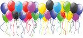Colour balloon in the air — Stock Vector