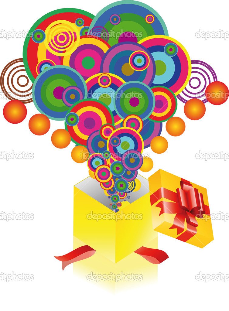 Colorful explosion from a box   Stock Vector #3151662