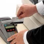 Credit or bank card retail transaction — Stock Photo