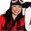 Happy Ski Girl - Foto de Stock