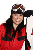 Happy Ski Girl — Stock Photo