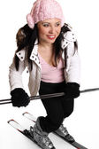 Female skier — Stock Photo