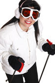 Female skier — Stock Photo