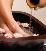 Relaxing feet pedispa — Stock Photo