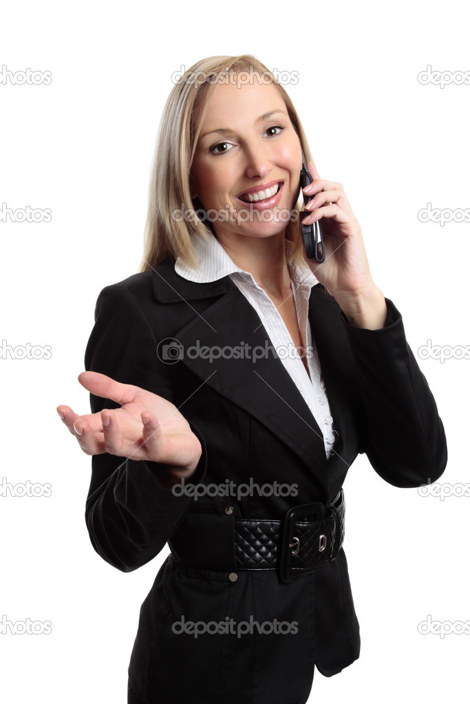 Happy business woman on a telephone call — Stock Photo #2798321