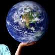 World in palm of your hands - earth — Stock Photo