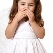 Giggling angel or fairy — Stock Photo