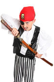 Snarling Pirate with sword — Stock Photo