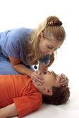 Resuscitation of a boy — Stock Photo