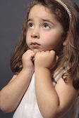 Innocent girl looking up — Stock Photo