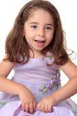 Happy joyous young girl playing — Stock Photo