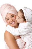 Mother daughter at bathtime — Stock Photo