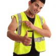 Cool tradesman laborer thumbs up success — Stock Photo #2898680