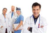 Hospital medical team of doctors and surgeons — Stock Photo