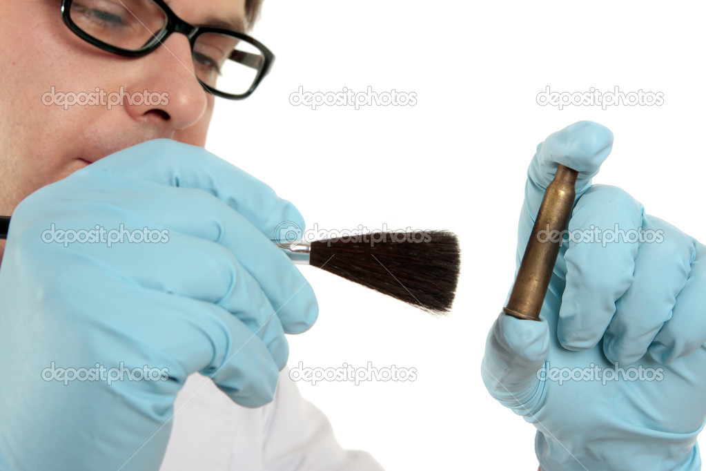 Stock Photo | Forensic dusting for fingerprints