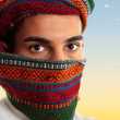 Arab man wearing keffiyeh - Stock Photo