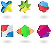 3d logo — Stock Vector