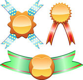 Medals with ribbon — Stock Vector
