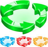 Sample recycling — Stock Vector