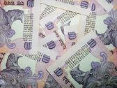 印度货币背景 — 图库照片