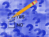 Check Yes-Sorvey — Stock Photo