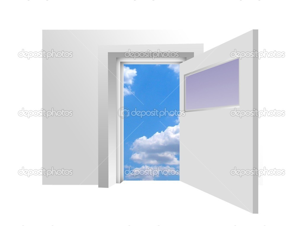 Opened door to blue sky  — Stock Photo #3756650