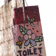 Painted toilet sign — Stock Photo