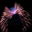 Blue and red fireworks — Stock Photo