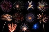 Een weergave van vuurwerk — Stockfoto