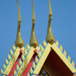 Rooftop buddhist temple — Stock Photo