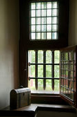 A castle window — Stock Photo