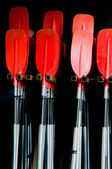 Red paddles — Stock Photo