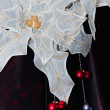 A white organza star — Stockfoto