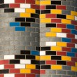 Stock Photo: Colorful brickwall
