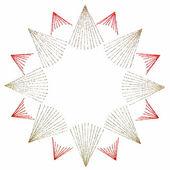 Christmas star on white — Stock Photo
