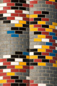 Colorful brickwall — Stock Photo