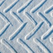 Stock Photo: Car track in snow