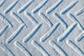 Car track in snow — Stock fotografie
