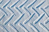 Piste de la voiture dans la neige — Photo