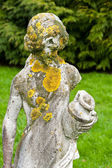Statue with lichen — Stock Photo