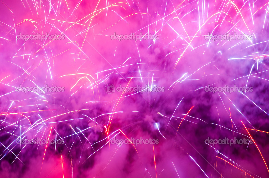 A background of purple firework with a lot of smoke — Stock Photo #3084749