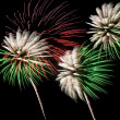 Green and white fireworks — Foto Stock